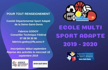Ecole Multi Sport Adapté 93 2019-2020